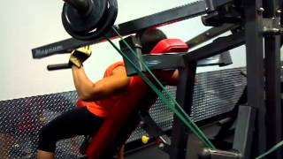 Magnum Machine Incline Chest Press w/ Tension Band