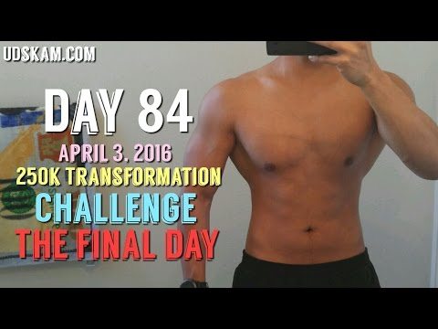 Body Transformation Day 84: 250k Transformation Challenge  Kinobody   Fasting Weight Loss