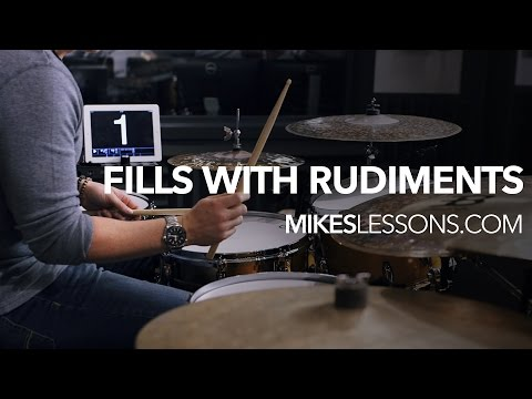 DRUM LESSON - Fills With Rudiments