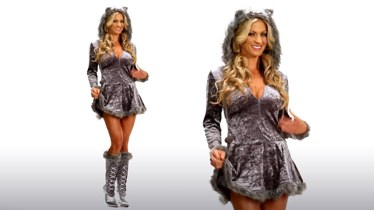 Big Bad Sexy Wolf Halloween Costume Idea  sc 1 st  YouTube & Big Bad Sexy Wolf Halloween Costume Idea - YouTube