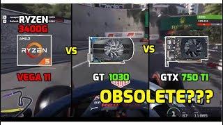 Ryzen 5 3400G (Vega 11) vs GT 1030 vs GTX 750 ti - 12 Games Tested