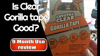 Is Clear Gorilla Tąpe Good? 9 month use review
