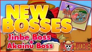 [NEW 009 UPDATE] SHOWCASING/REVIEWING THE 2 NEW BOSSES!  DEFEATING JINBE & AKAINU BOSS  ROBLOX RO-PIECE