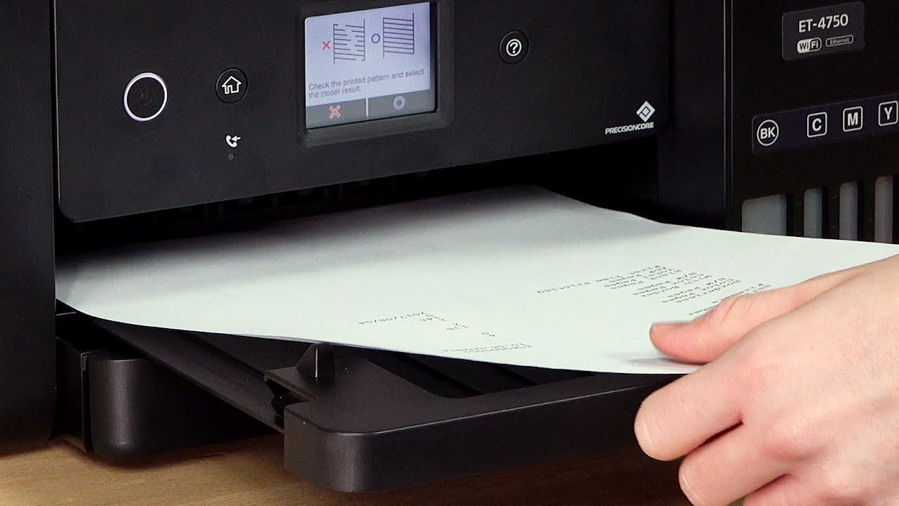 Epson WorkForce ET-4750: Cleaning the Print Head