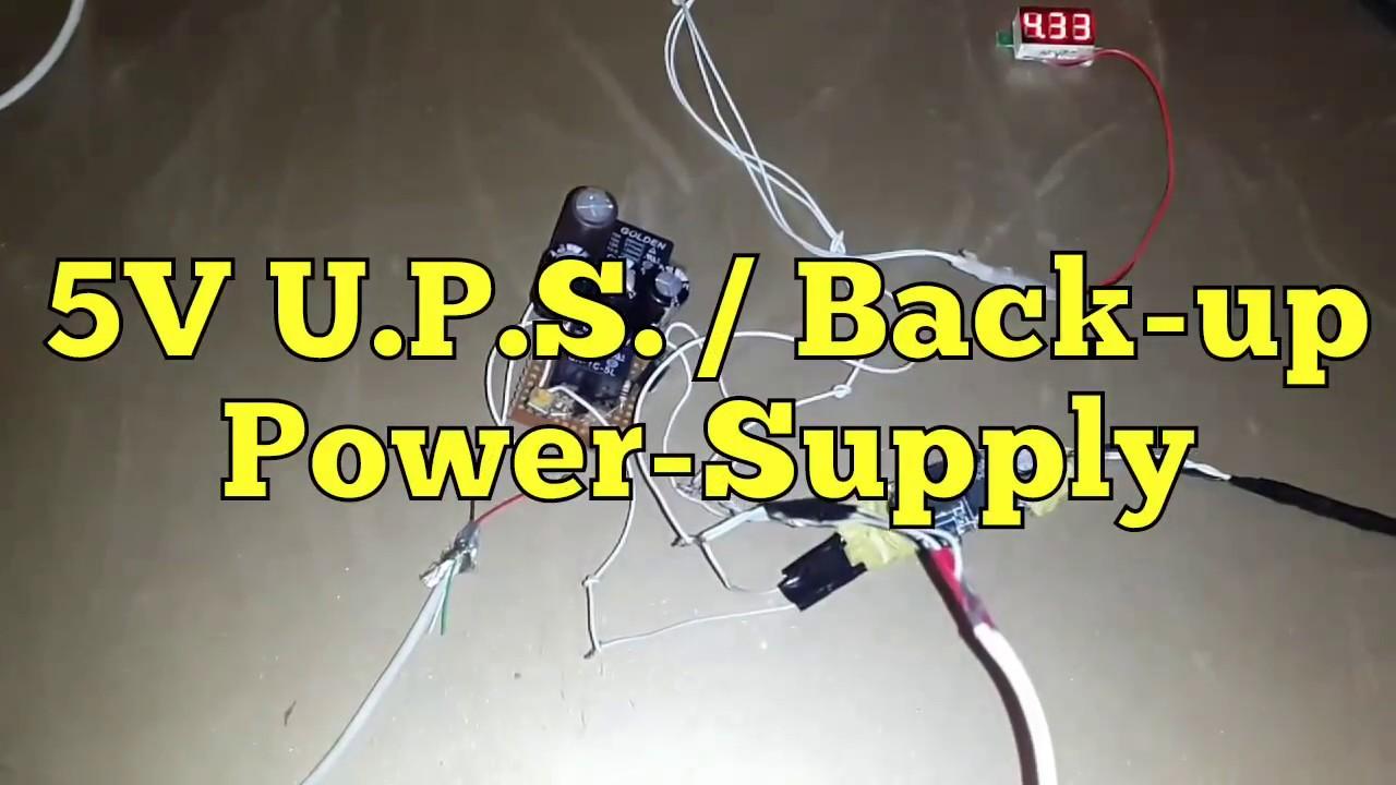 Diy 5V UPS / Backup V1 BETTER VERSION IN DESCRIPTION
