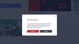 Prezi tutorial: How to delete your presentation