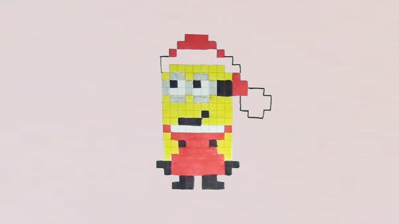 Comment Dessiner Un Minion Pere Noel Pixel Art