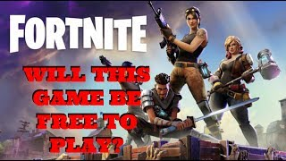 [Free To Play Information] Fortnite PS4 Gameplay [F2P?]