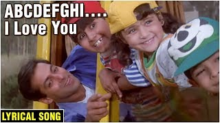 ABCDEFGHI..I Love You | Lyrical Song | Hum Saath Saath Hain | Salman Khan, Sonali Bendre, Tabu, Saif