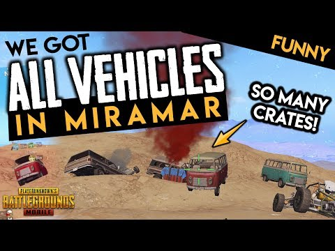 WE GOT ALL THE CARS IN MIRAMAR 😂 PUBG Mobile