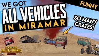 WE GOT ALL THE CARS IN MIRAMAR 😂 PUBG Mobile