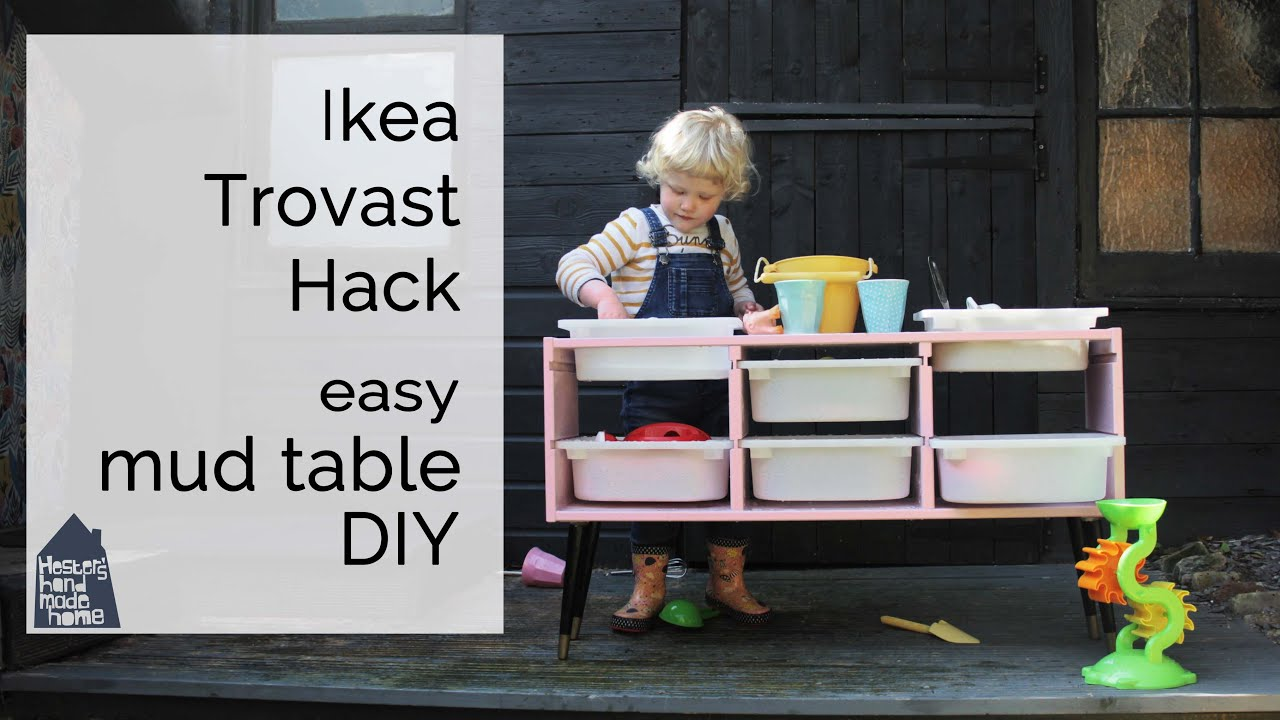 DIY mud table, IKEA Trovast hack