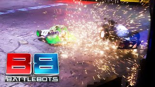 AWESOME FIGHT: YOU WON'T SEE THIS ON TV! WitchDoctor vs Tombstone: BattleBots Live from Las Vegas!