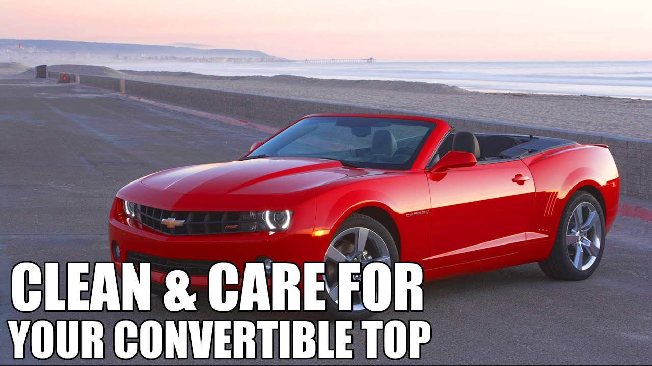How To Clean And Protect Convertible Tops Chemical Guys Top Product Line