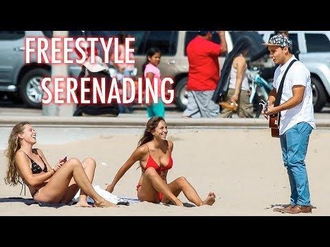 Freestyle Serenading On Santa Monica!!