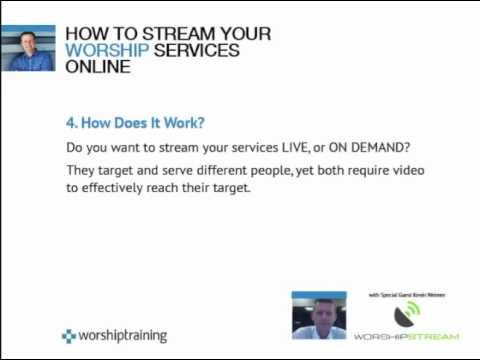 WEBINAR VIDEO: How To Stream Your Worship Services Online - Dan Wilt & Kevin Weimer