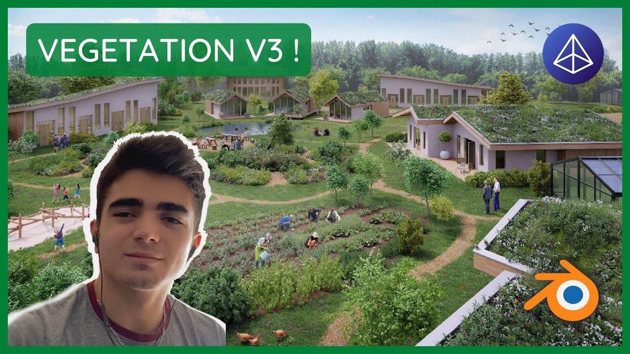 Blender - Nouveautés de VEGETATION V3 (add-on)