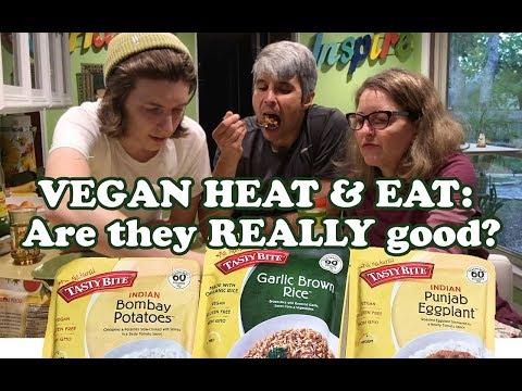 Travel Food Taste Test: Tasty Bite Brand vegan foods
