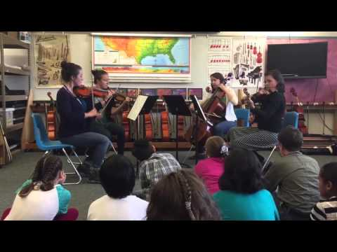 The Mendenhall Quartet Plays a Tango for Students at Glacier Valley Elementary School