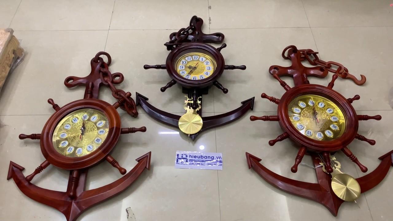 Đồng Hồ Mỏ Neo Treo Tường Bằng Gỗ Hương Đẹp Giá Rẻ ở Hà Nội | Cửa hàng Hiếu Bằng