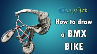 How to draw a BMX Bycicle | Pen & Ink Drawing Tutorials