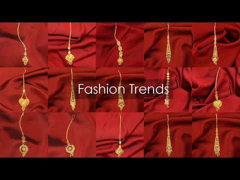 Latest Light Weight Gold Maang Tikka Designs Collections 2018