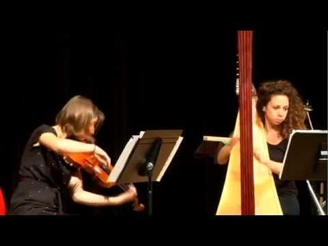 Villanelle for violin & harp by Garrett Byrnes