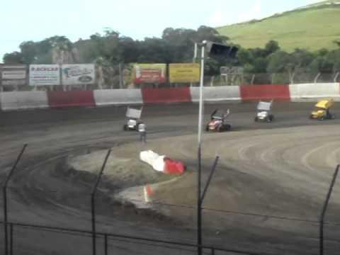 sprint car flip east bay raceway 2014