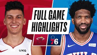 HEAT at 76ERS | FULL GAME HIGHLIGHTS | January 12, 2021