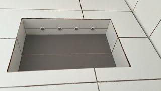 LED Beleuchtung fliesen verlegen Dusche Badezimmer Duschfach