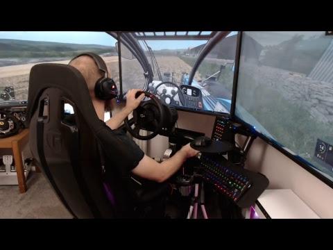 farming simulator 17 back to dowland camera view test  3x40inch screen