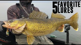 TOP 5 Spring Walleye Lures!