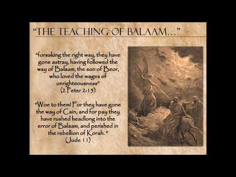 The Error, Doctrine And Council Of Balaam By Daniel Mena