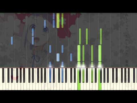 [AnoHana] ED Secret Base Kimi ga Kureta Mono Piano Synthesia Tutorial