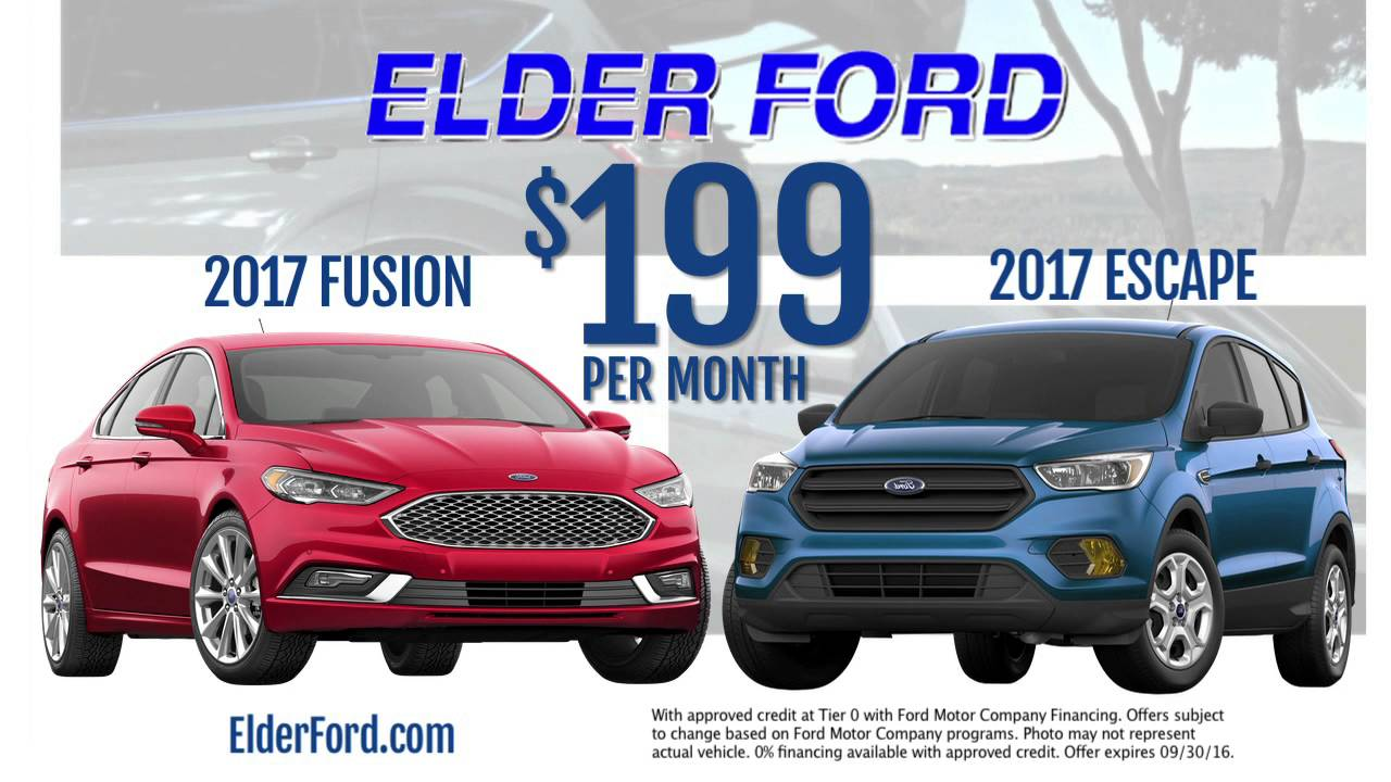 Ford Lease Deals 2017 >> Elder Ford In Troy Incredible Lease Deals W 0 Down 30 Seconds