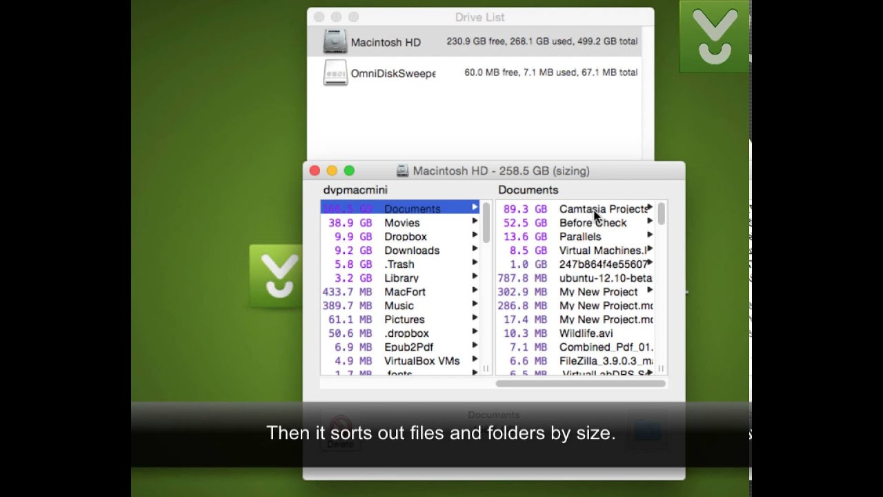 OmniDiskSweeper - Clean up your Mac of unused files - Download Video  Previews