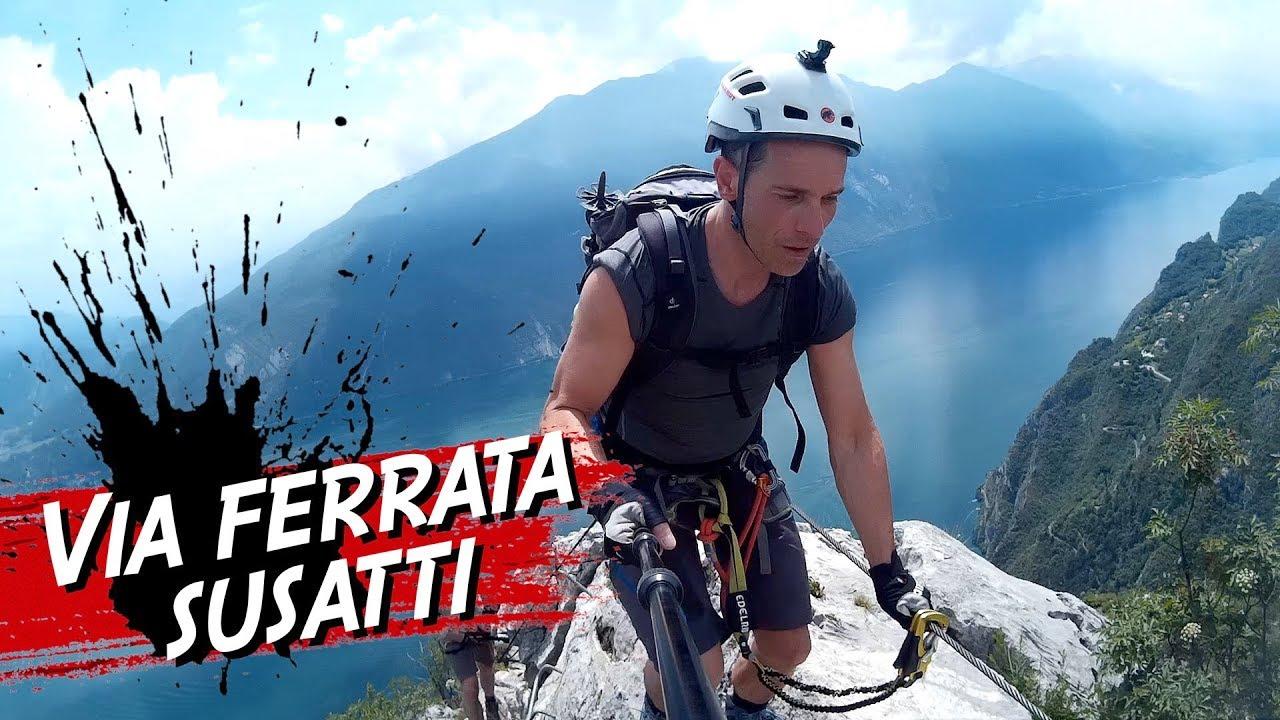 Klettersteig Cima Capi : Via ferrata susatti cima capi klettersteig gardasee youtube