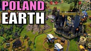 Civ 6: Poland Gameplay [True Start Earth Location Map] Let's Play Civilization 6 Poland | Part 16