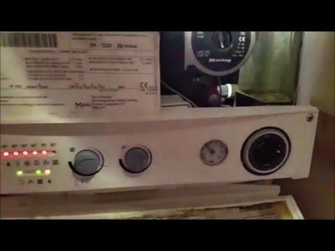 MAIN COMBI BOILER 30HE flue pressure switch faulty - YouTube