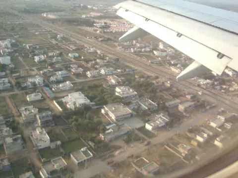 LANDING AT JAIPUR AIRPORT