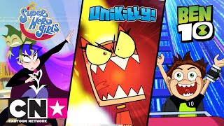 Super eroinele DC + Unikitty + Ben 10 | Aventuri în parcul de distracții | Cartoon Network