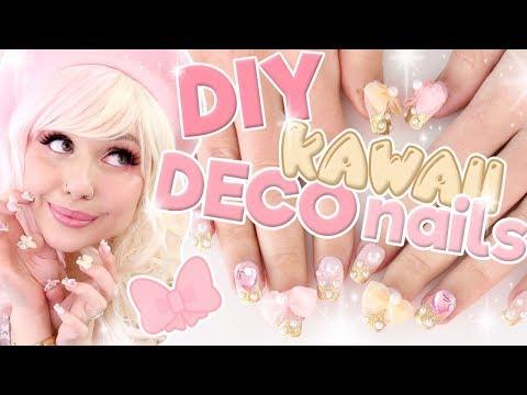 HOW I DO MY KAWAII DECO NAILS AT HOME | Gradient Gel Nail Tutorial ft Madam Glam thumbnail