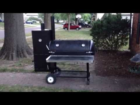 Q Bros BBQ Custom Reverse Flow Patio Smoker