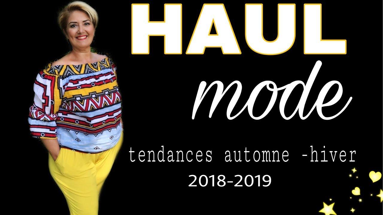 haul mode rentree tendances 2018 2019 femmes 50 ans et youtube. Black Bedroom Furniture Sets. Home Design Ideas