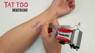 How To Make Simple Tattoo Machine - Homemade