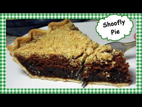 Pennsylvania Dutch SHOOFLY Pie ~ Holiday Baked Molasses Pie Recipe