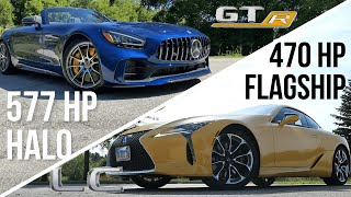 LEXUS LC500 Vs MERCEDES-AMG GT-R   The Difference Between A Flagship And A Halo Car