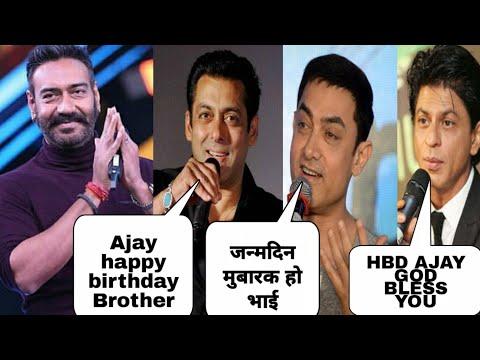 Shahrukh Khan, Salman Khan & Aamir Khan Wishing Happy Birthday to Ajay Devgn, Ajay's 50th Birthday Mp3