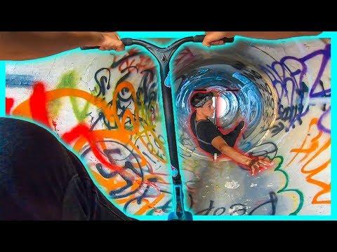Secret UNDERGROUND Skatepark Scootering! Ft. Jon Reyes