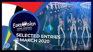 Selected Entries - 2 March 2020 - Eurovision Song Contest